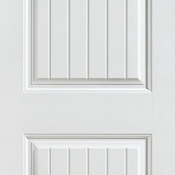 Cheyenne Interior Door - The 2-panel Cheyenne interior door's Cape Cod style includes a V-groove design, a stunning enhancement to any décor and it is resistant to warping, shrinking and cracking. It is also available in closet, pocket, fire and barn doors.