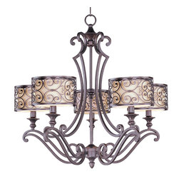 Maxim Lighting - Maxim Lighting 21155WHUB Chandelier - Mondrian, a Mediterranean inspired collection, features a forged-iron frame finished in Umber Bronze. The style, elegance and quality reflected in every fixture reinforces Maxim's attention to detail. From chandeliers and pendants to wall sconces and a gorgeous line of exterior lighting, Maxim produces some of the greatest lighting fixtures in the industry.