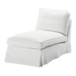 IKEA of Sweden - EKTORP Cover free-standing chaise lounge - Cover free-standing chaise lounge, Blekinge white