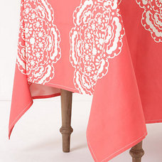 modern tablecloths by Anthropologie