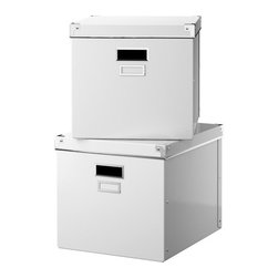 Jon Karlsson - KASSETT Magazine Box with Lid - Anyone can use these most anywhere. I have them in my office, laundry room and closet. They have a very simple design and come at a very inexpensive price for stylish storage boxes!