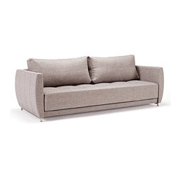 Curvature Deluxe Excess Sofa-Sleeper, Innovation - Deluxe seating and sleeping comfort embodied in an elegant design that allows it to be free standing in the middle of a room. The Deluxe styling adds a classic, modernistic character to the sofa.