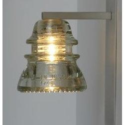 LED Insulator light Sconce - railroadware