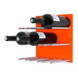 Vin de Garde Modern Wine Cellars Inc. - Wall Mounted Wine Rack | Vin de Garde XY Series, Orange - This stunning modular wall mounted wine rack allows you to customize your wine wall in anyway that you can imagine! The Vin de Garde XY 3X3 Kit holds up to 9 bottles of wine, and is backed by an ultra sleek-looking high gloss acrylic panel. With this system, you can mix and match the panels to create the perfect pattern and look for your home. What are you waiting for? Start building the wine collection of your dreams today.
