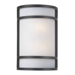 Minka Lavery - Minka Lavery 345-37B-PL 2 Light Fluorescent Wall Sconce in Dark Restoration Bron - 120V LVS ElectronicADA Compliant: Yes Bulb Included: No Bulb Type: Fluorescent Energy Star Compliant: Yes Extension: 3-3 4 Finish: Bronze Glass Shade: French Scavo Glass Height: 12-1 4 Light Direction: Ambient Lighting Number of Lights: 2 Sconce Type: Wall Washers Style: Contemporary Transitional Suggested Room Fit: Bathroom, Bedroom, Dining Room, Family Room, Foyer, Kitchen, Living Room Wattage: 13 Weight: 2.81 Width: 8-1 4