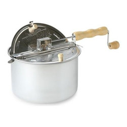 Wabash Valley Farms Inc. - The Original Whirley Pop Stovetop Popcorn Popper - Pop six quarts of delicious, theater-style popcorn with as little as a teaspoon of oil in just three minutes on your stovetop. The durable aluminum pan serves the entire family, making twice as much popcorn as a standard bag of the microwave version.