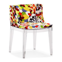 Zuo - Pizzaro Dining Chair Sold as Set of 2 - The Pizzaro dining chair features vivid color and style is a pure statement piece that adds a pop of color to any space.  This funky dining chair is made with a soft cushion seat and polycarbonate base.  Add the element of surprise to your living room, dining room, or home office with this playful, but chic chair. Sold as a set of two (package cannot be broken).