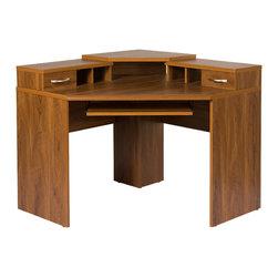 Corner Desk with Monitor Platform -