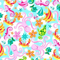 "SheetWorld - SheetWorld Fitted Pack N Play Sheet - Sea Creatures - Made in USA - This luxurious 100% cotton ""woven"" pack n play (large) sheet features a bright array of sea creatures. Our sheets are made of the highest quality fabric that's measured at a 280 tc. That means these sheets are soft and durable. Sheets are made with deep pockets and are elasticized around the entire edge which prevents it from slipping off the mattress, thereby keeping your baby safe. These sheets are so durable that they will last all through your baby's growing years. We're called sheetworld because we produce the highest grade sheets on the market today. Size: 29.5 x 42."