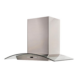 "Cavaliere - Cavaliere Wall Mount Hood 30"" - Wall Mounted Range Hood with 6 Speeds, Timer Function, LCD Keypad, Grease Filters, and Halogen Lights"