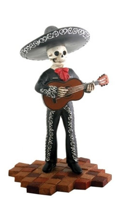 Summit - Skeleton Skull Black Mariachi Band Guitar Statue Figurine Collectible - This gorgeous Skeleton Skull Black Mariachi Band Guitar Statue Figurine Collectible has the finest details and highest quality you will find anywhere! Skeleton Skull Black Mariachi Band Guitar Statue Figurine Collectible is truly remarkable.