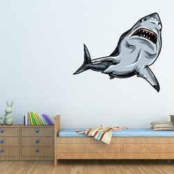 Shark Vinyl Wall Decal SharkUScolor005; 48 in. - Vinyl Wall Decals are an awesome way to bring a room to life!