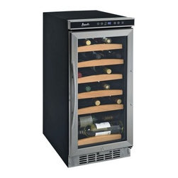 Avanti WC1500DSS 30 Bottle Wine Cooler - Additional featuresDigital temperature display in degrees C or F Soft interior light with on/off switchAuto-defrost functionSuitable for built-in or freestanding applicationsInterior fan and security lock Whether you use it in a freestanding or built-in application the Avanti WC1500DSS 30 Bottle Wine Cooler will satisfy your wine storage requirements. This cooler holds up to 30 bottles of your favorite wines keeping them stored securely at proper serving temperatures. Simply use the one-touch digital controls to set the cooler for red white or sparkling wine storage. The digital display will show the interior temperature in your choice or degree Celsius or Fahrenheit.A double-paned tempered glass door lets you view your collection without opening the cooler. When you're ready to access the interior slide-out shelves and a soft interior light make storage and retrieval easy. This wine cooler is equipped with an interior fan to help control humidity levels and an exterior lock for added security.Note: Single Zone wine coolers are intended to store only one type of wine at a time as they have only one temperature zone that can be set to cool either red white or sparkling wine.About AvantiAvanti has been a leader in the Consumer Appliance Industry for over 30 years. We specialize in compact to full-sized refrigerators; upright and chest freezers; wine coolers; water dispensers and more. Avanti's reputation has been built by providing quality products at a great value. We are well known for our compact refrigerators for the home office and dormitory. Avanti compact refrigerators have become popular with hotel chains nationwide as in-room refrigerators and refreshment centers.