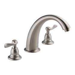 DELTA FAUCET - 2 Handle Three Hole Roman Tub Trim Kit Foundation Brushed Stainless Steel - Features: