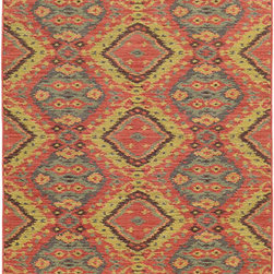 Tommy Bahama Area Rugs - Cabana 621C2 Pink and Blue Rectangular: 5 Ft. 3 In. x 7 Ft. 6 In. Rug - - The Cabana collection from Tommy Bahama Home features a line of area rugs beautiful enough for the indoors but durable enough to bring its beauty outdoors. The line boasts an 8-color spaced dyed loop pile for added texture, depth and dimension. Featuring a sophisticated color palette in traditional to global designs, Cabana is the perfect addition to any indoor or outdoor space.  - Construction: Machine Woven  - Material: Polypropylene  - Care Instructions: Spot clean with water and mild soap  - Primary Pattern: Geometric  - Pile Height in Inches: 0.31  - Country of Origin: Egypt Tommy Bahama Area Rugs - 748679393817