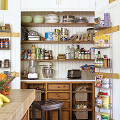 traditional kitchen pantry