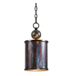 Uttermost - Uttermost 21920 Albiano 1 Light Oxidized Bronze Mini Pendant - Complex Tonalities Of Metallic Oxidation Enrich These Classic, Simple Shapes