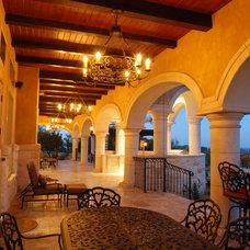 Mediterranean Patio by Stadler Custom Homes