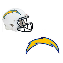Brewster Home Fashions - NFL San Diego Chargers Wall Graphics 4pc Teammate Stickers - FEATURES: