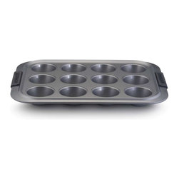 Anolon - Anolon Advanced 12 Cup Nonstick Muffin Pan - The ordinary muffin pan is more versatile than you think. Not only are they perfect for cup cakes, but use these personalized serving cups to create mini pot pies, French toast cups and more. - Capacity: 12 Cups.  - Weight: 2.2 lbs.