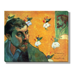 Gallery Direct - Self-Portrait Dedicated to Vincent van Gogh (Les Miserables) Canvas Gallery Wrap - The perfect way to add character and depth to your room, this canvas gallery wrap is printed using archival inks on artist grade canvas. Wrapped over 1.5 inch stretcher bars, the print will hang 1.5 inches from your wall.