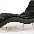 MODERN BLACK CHAISE LOUNGE DAN - MODERN BLACK CHAISE LOUNGE DAN