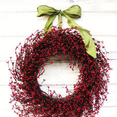 traditional holiday outdoor decorations by Etsy