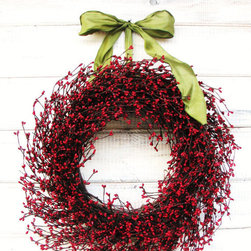 Red & Green Scented Berry Wreath by WildRidge Design - The classic green and red combination in this wreath creates a beautiful holiday feeling. It's simple and perfect.