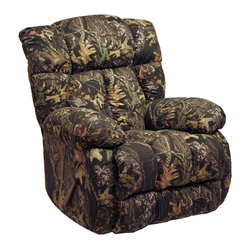 Catnapper - Laredo Recliner w Detailed Stitch - Massive dimensions. Plush comfort with stitch details. Extra padded chaise seating. Durable steel seat box. Unitized steel base. The strongest, most durable base in the recliner industry. Resists bending or wear. Reclining Mechanism:. Installed with noiseless sure-lock spring clips. Strongest recliner seat box available. No warping or splitting in this critical area (standard on most models). Direct drive cross bar ensures that both sides of the mechanism operate together, in sequence, for longer life. Heavy 8-gauge sinuous steel springs in the seat provide strength, comfort and flexibility. Made of 100% cotton. Cleaning Method:. Clean only with water-based shampoo or foam upholstery cleaner. Do not over wet. Do not use solvent. Do not saturate with liquid. Pile fabrics may require brushing to restore appearance. Cushion covers should not be removed and laundered. No assembly required. Limited lifetime warranty. 41 in. L x 41 in. W x 44 in. H (130 lbs.)