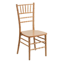 Flash Furniture - Flash Furniture Flash Elegance Supreme Natural Wood Chiavari Chair - If you've been to a wedding, chances are you've sat in a Chiavari chair. Chiavari chairs have become a classic in the event industry and are also highly popular in high profile entertainment events. This chair is used in all types of elegant events due to its lightweight, stacking capabilities and elegant design. Keep your guests comfortable with optional cushions and keep your chairs beautiful with optional chair covers. [SZ-NATURAL-GG]