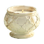 Corsica Trellis Three Wick Candle Bowl - Citronella - For outdoor use to keep the insects at bay, perch a of the Corsica Trellis Candles on your tabletops and enjoy those cool spring and warm summer nights with the natural insect repellent of citronella along with a blend of lemongrass and Geranium. A classic looking vessel that is easily adaptable to any style, this candle appears aged and weathered but still remain beautiful and functional.