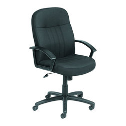 Boss Office Products - Boss Office Products Plastic Executive Office Chair with Arms in Black - Boss Office Products - Office Chairs - B8306BK - Show people you mean business with the smoothly sophisticated Fabric Executive Office Chair. The variety of ergonomic features on this seat ensure the best in comfort and back support. Do the best job you possibly can with the Executive Office Chair.