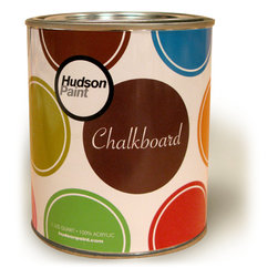 Hudson Chalkboard Paint - I'm sure we all know the wonders of chalkboard paint by now, but what about chalkboard paint in any color you want? Hudson Paint company makes wonderful chalkboard paint in a full range of colors, so you can paint that accent wall or vintage cupboard and draw on it, too!