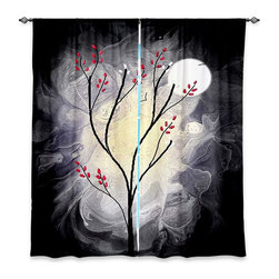 "DiaNoche Designs - Window Curtains Unlined - Tara Viswanathan I will still be Dreaming - DiaNoche Designs works with artists from around the world to print their stunning works to many unique home decor items.  Purchasing window curtains just got easier and better! Create a designer look to any of your living spaces with our decorative and unique ""Unlined Window Curtains."" Perfect for the living room, dining room or bedroom, these artistic curtains are an easy and inexpensive way to add color and style when decorating your home.  The art is printed to a polyester fabric that softly filters outside light and creates a privacy barrier.  Watch the art brighten in the sunlight!  Each package includes two easy-to-hang, 3 inch diameter pole-pocket curtain panels.  The width listed is the total measurement of the two panels.  Curtain rod sold separately. Easy care, machine wash cold, tumble dry low, iron low if needed.  Printed in the USA."