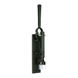 BOJ - Professional Wall-Mounted Corkscrew with Wood Backing, Black - - Exceptionally designed with professional quality in mind. The corkscrew includes the beautiful wood backing.