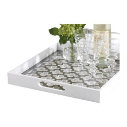Zodax - Zodax Trellis Wooden Serving Tray with Glass Insert - Zodax - Serving / Decorative Trays - TH1453 - Enjoy parties? Love to be a great host or hostess? Trellis Wooden Serving Tray with Glass Insert is perfect for you and your family.