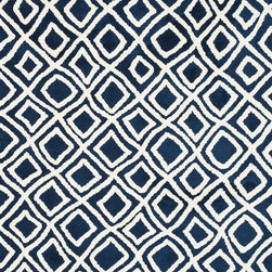 Loloi Rugs - Loloi Rugs CHARCT-02NV002339 Charlotte Navy Transitional Rug - The Charlotte Collection's striking patterns may draw you into a room, but it is the incredibly soft surface that will keep you there. Whether you are kicking your shoes off after a long day of work or just enjoying a lazy Sunday, your feet will appreciate the comfy microfiber feel. With a surface this soft, Charlotte is the ideal choice as a bedside accent, family room centerpiece, and even a bathroom rug in a scatter size. What's more, Charlotte's 100% polyester fibers are highly stain and moisture resistant, so its colors remain vibrant over time.