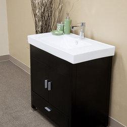 Bellaterrra - Bellaterra 203107 31.5 In Single Sink Vanity-Wood-Black - 31.5x18.9x33.5 in. - Bellaterra 203107 31.5 In Single Sink Vanity-Wood-Black  - 31.5x18.9x33.5 in.