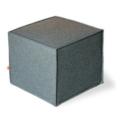 Gus Modern - Gus Modern Jasper Cube Ottoman - Simple in its design, stylish in its looks, this cube ottoman is anything but square. Use it as a convenient TV tray or as it was originally designed for — to kick up your feet and rest your barking dogs.