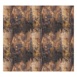 Removable Wallpaper-Singed Wood-Peel & Stick Self Adhesive, 24x96 - Couture WallSkins.  Your wall will love you for this.