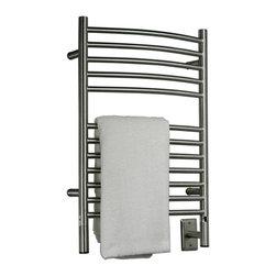 Amba - Curved 20x31 Electric Heated Towel Warmer, Polished - • Towel Warmer / Towel Dryer