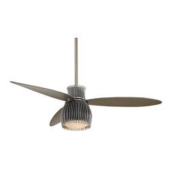 "Minka Aire Uchiwa Ceiling Fan - 56"" Black and Chrome -"