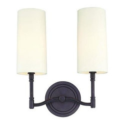 Hudson Valley - Hudson Valley 362-AN 2 Light Wall SconceDillion Collection - Not only do the gentle curves of Dillion's slender arms balance the sleek height of the lamps, they temper the design's chic sensibility with timeless grace. A ring motif?cast into the lamp stems and sconce backplates?adds interesting detail, without com