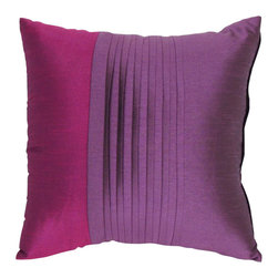 "Wayborn - Wayborn Polyester Decorative Pillow 17"" x 17"" in Purple - Wayborn - Throw Pillows - 11135 - The Wayborn Polyester Decorative Pillow is perfect to enhance your living room or bedrooms decor. Mix and match with other Wayborn pillows to create that personal touch."
