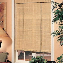 Radians - Radians Natural Premium Matchstick Shade - This matchstick bamboo blind by Radians adds a touch of nature to the home. Made from premium bamboo,this blind can be rolled up to any length for maximum flexibility. The light-filtering ability of the blind helps preserve privacy and save energy.