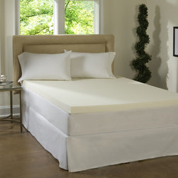 Simmons Beautyrest - Beautyrest 2-inch Memory Foam Mattress Topper - Improve your sleep and awaken feeling completely refreshed with this open air memory foam mattress topper by Comforpedic Loft. It features an improved cell structure,designed to maintain its original shape and feel for the life of the product.