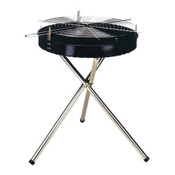 """Kay Home Products - Deluxe Tripod Charcoal Grill - 22"""" - Heavy-duty stamped steel construction"""