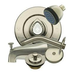 "Danco - Danco Brushed Nickel Head to Toe Remodel Kit for Moen #89435 - Danco ""Head to Toe"" Remodeling Kit for Moen"" Chateau"" Model 2600 & 2700 ."
