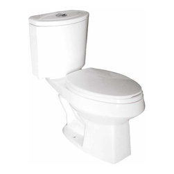 Renovators Supply - Toilets White Water Saving Toilet Elongated Dual Flush Colby | 17056 - Water Saving Toilet. Dual Flush Toilets Colby Toilet TOP Flush: By using Dual Flush technology the EPA estimates homeowners save up to 25,000 gal. of water a year. How? Use 0.8 LOW flush for liquids and 1.6 HIGH flush for solid waste. Control your water usage to SAVE money and conserve water. Our G-Force high efficiency flush system technology lets you flush only ONCE! Eliminate the need to double flush. Ergonomic easy height and elongated bowl makes using it safer by putting less strain on your body. Includes standard plastic toilet seat and EASY TOP-flush plastic faux chrome button. Measures 27 3/4 inch H x 27 inch projection