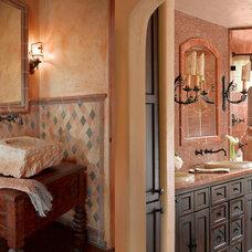 Mediterranean Bathroom by Catherine Macfee Interior Design
